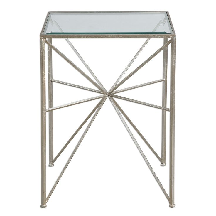 Silvana Silver Side Table by Uttermost