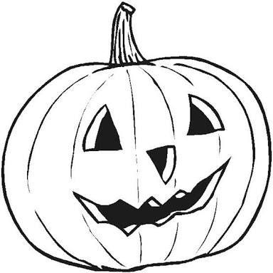 Resultado de imagen para calabaza de hallowen para colorear