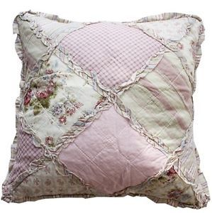 Shabby Chic Throw Pillows Sale | Shabby Chic Throw Cushion / Pillow Cover  Pink Patchwork Florals