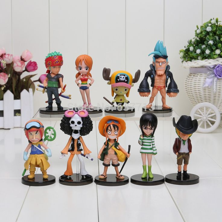 9pcs One Piece Mini Action Figures Luffy/Zoro/Sanji/Chopper/Brook Figure //Price: $22.00 & FREE Shipping //     #onepiece #onepieceanime #dluffystore