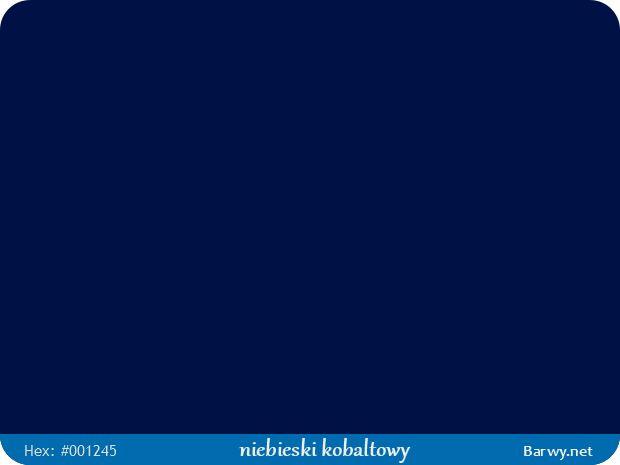 Kolor RGB HEX 001245 - niebieski kobaltowy - Cobalt blue - Kobaltblau - Bleu cobalt - Barwy.net