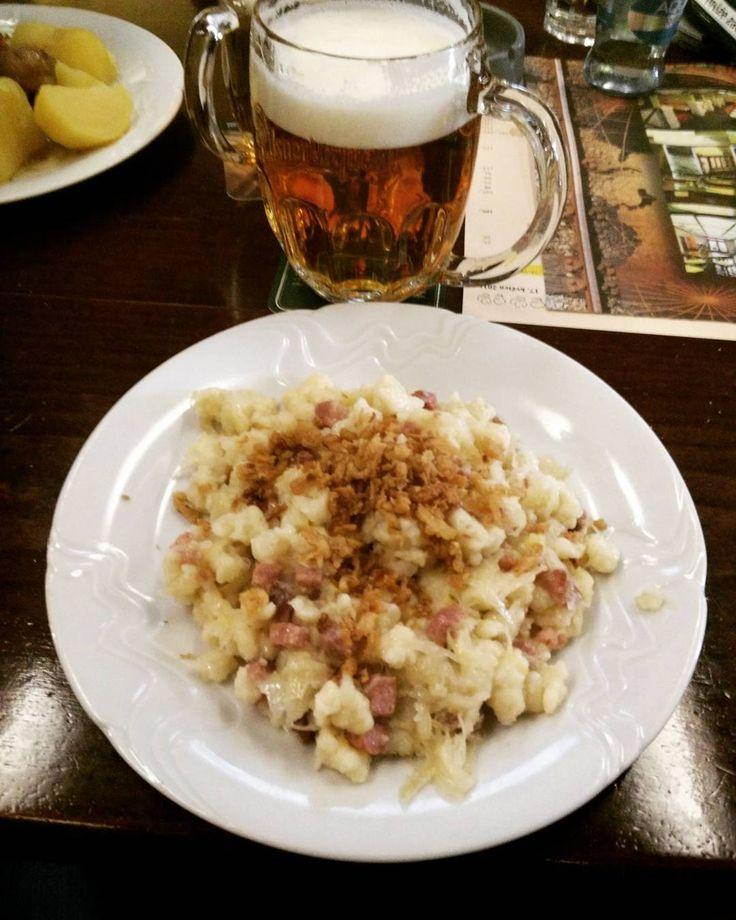 Halušky & Beer  #halusky #Prague #CzechRepublic