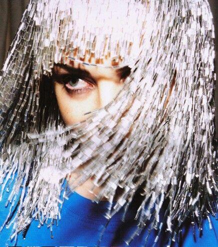 Kylie. Silver hair