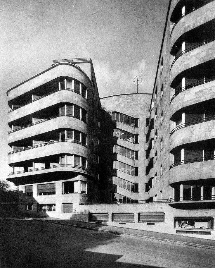 Béla Hofstätter and Ferenc Domány - apartments, Margit Boulevard, Budapest, 1937