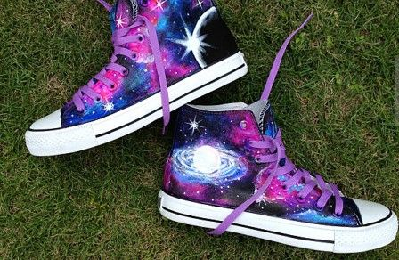 2013 Galaxy Shoes galaxy canvas shoes hand painted galaxy galaxy,High-top Painted Canvas Shoes