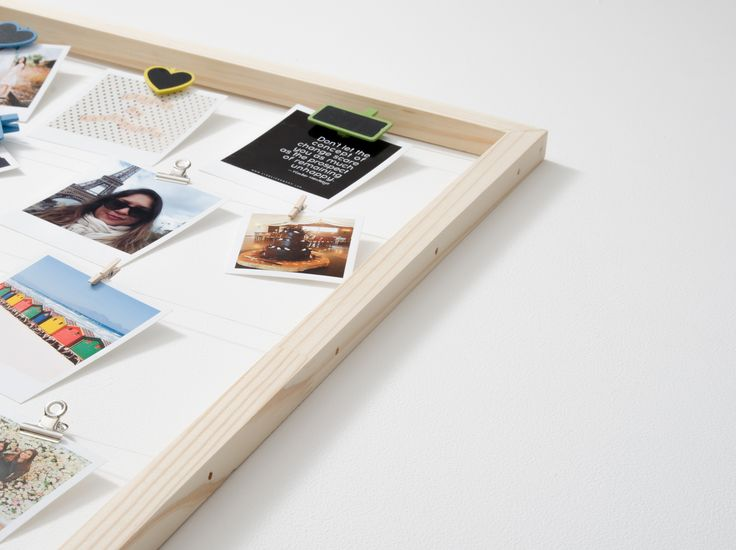 Timeframe's Large Floating Frame is the perfect way to show off your super cute snaps. This frame + your pics and our pegs = a stylish display of your memories.   This frame is made with pine and twine.