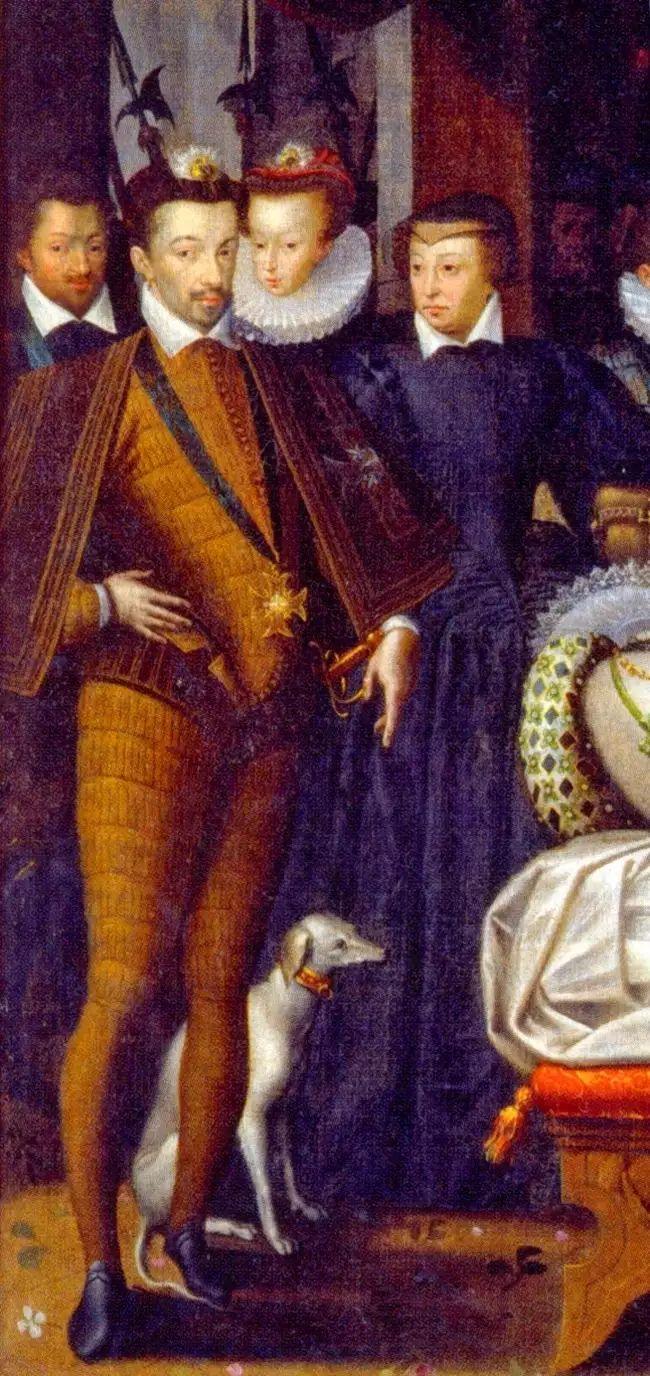 Henri III, roi de France,1581 Bal des Noces du Anne de Batarnay 1.Duc de Joyeuse et Margueritte Lorraine(half-sister of Louise wife of Henry III)Le roi est ici avec sa nièce Christine de Lorraine, future grande-duchesse de Toscane(wife of Ferdinand I.de Medici-daughter of Charles III.Duc Lorraine-cousin of Louise and Marguerite), sa mère Catherine de Médicis, reine de France, et Charles de Lorraine-Guise, 1.duc de Mayenne*1554+1611 brother of assassined Henry I.3.Duc Guise and Louis…