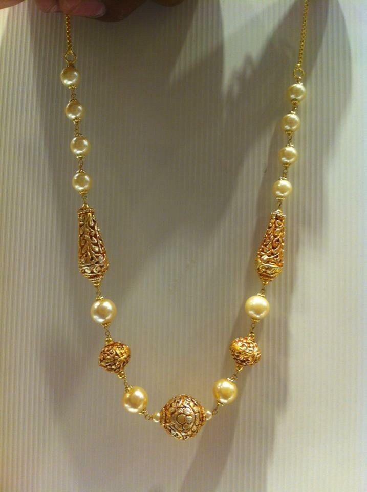 Traditional nakshi balls pearl necklace