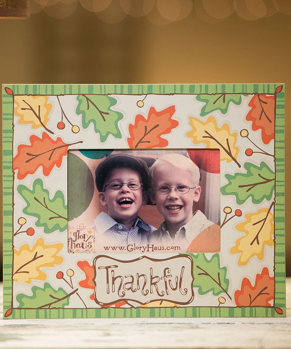 Look at this 'Thankful' Leaf Frame on #zulily today!