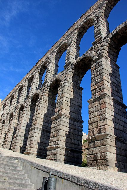 Aqueduct of Segovia, Spain   This is one of the most beautiful Roman ruins in Spain.