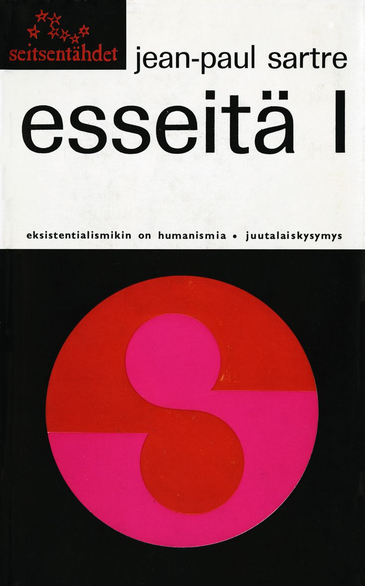 Title: Esseitä l | Author: Jean-Paul Sartre | Designer: Kosti Antikainen