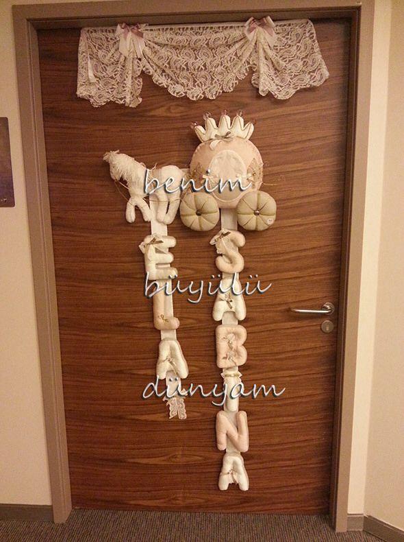 Bebek odası kapı süsü