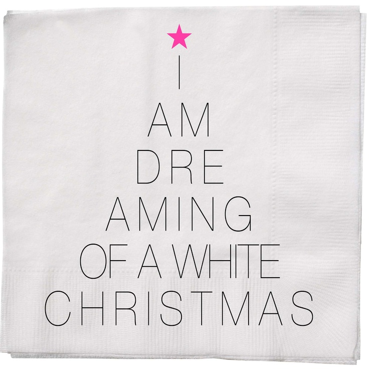 Another idea for a Christmas Tree - favorite carol lyrics in tree shape (from a Bloomingville christmas paper napkin)
