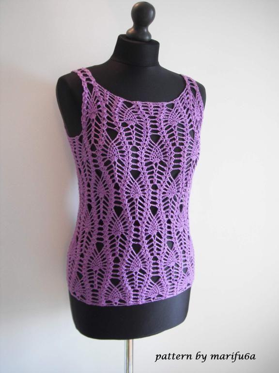 #Crochet Pineapple Tank Pattern