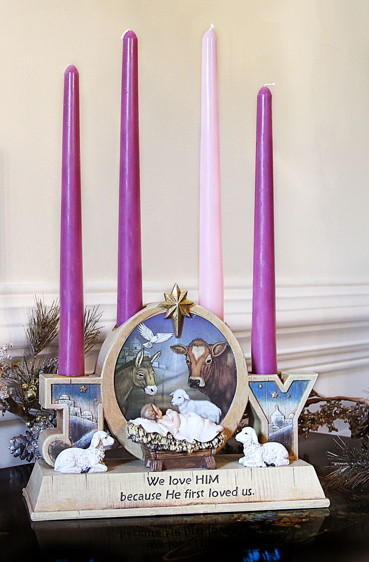 Joy advent candleholder doubles as a display of - Pinterest advent ...