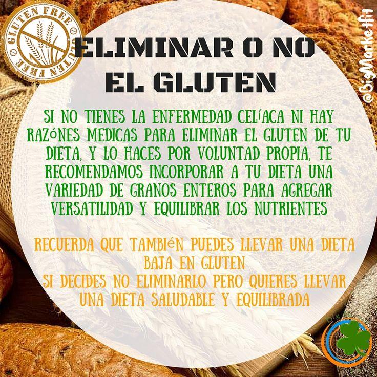 """Una dieta sin gluten no es llenarte de productos """"gluten free"""". Es una dieta que evita los alimentos con gluten #SiSePuedeComerSaludableYRico #BigMarketFitRecetas #BigMarketFitCambio #TipsBigMarketFit"""