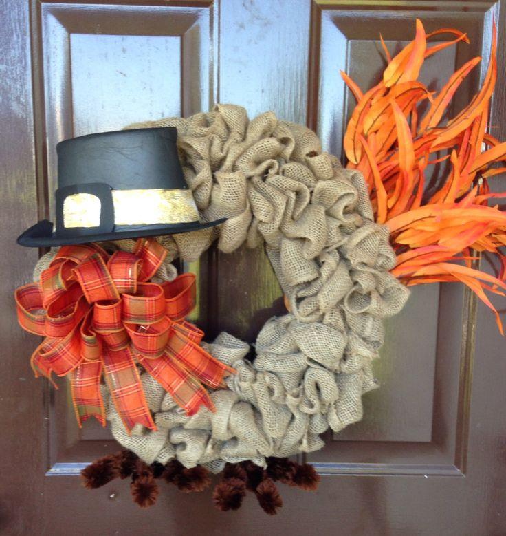 A personal favorite from my Etsy shop https://www.etsy.com/listing/460402560/turkey-wreath-fall-wreath-burlap-wreath