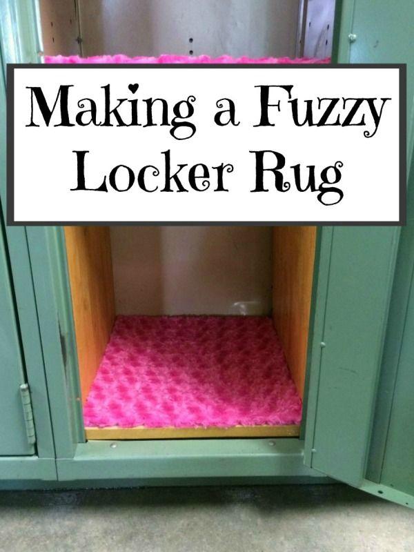 Beautiful Making A Fuzzy Locker Rug