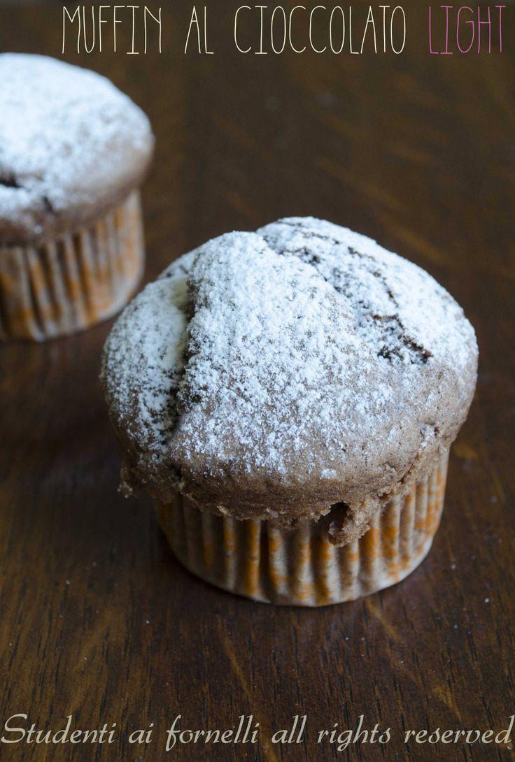 Muffin al cioccolato light senza uova, ricetta muffin golosi