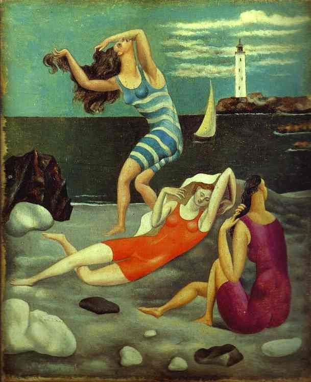 Pablo Picasso. The Bathers. ca, 1918. Oil on canvas. Musee Picasso, Paris, France.