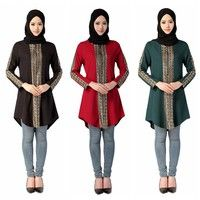 Wish | Middle East Abayas Muslim Blouse Islamic Clothing Women Turkish Malaysian Saudi Dubai Top