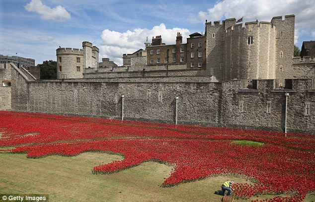 Commemoration: Some of the men remembered with a poppy were recruited into the army at the Tower