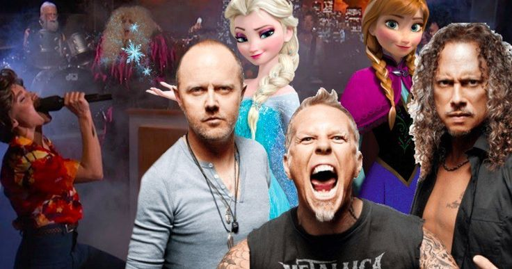 Frozen Metallica Mashup Has Kristen Bell & Dave Grohl Rocking Out -- Frozen song Do You Want to Build a Snowman gets mashed-up with Metallica's Enter Sandman and it's pure metal bliss. -- http://movieweb.com/frozen-metallica-mashup-video-kristen-bell-dave-grohl-kimmel/
