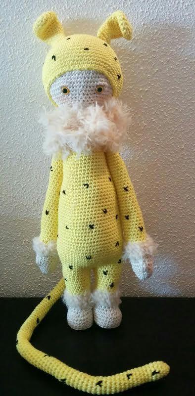 Marsupilami mod made by Betty D. / based on a lalylala crochet pattern