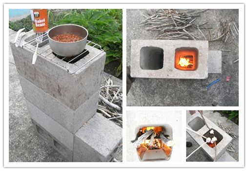 How to make diy concrete block rocket stove for Make a rocket stove