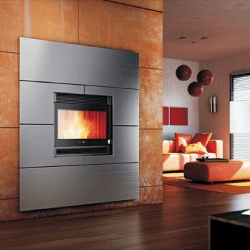 24 best images about wood stoves on pinterest mantles for Modern wood burning insert