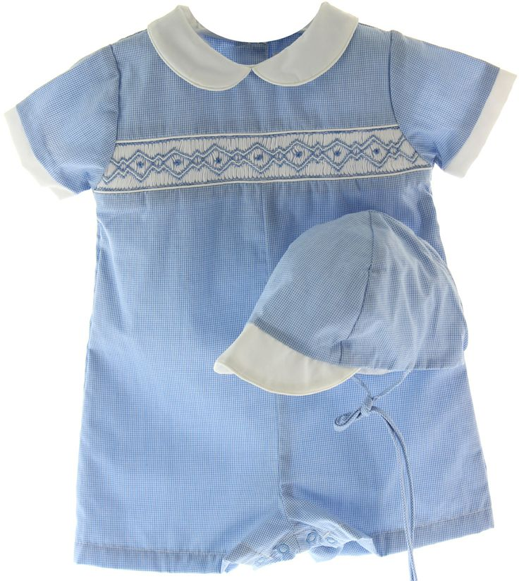 Hiccups Childrens Boutique Baby Boys Blue Gingham