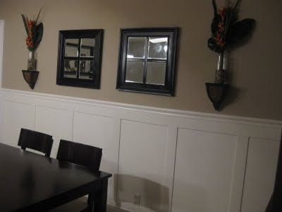 Frugal Home Ideas: Big impact - Small budget. Faux Wainscoting- oh, I am so doing this!