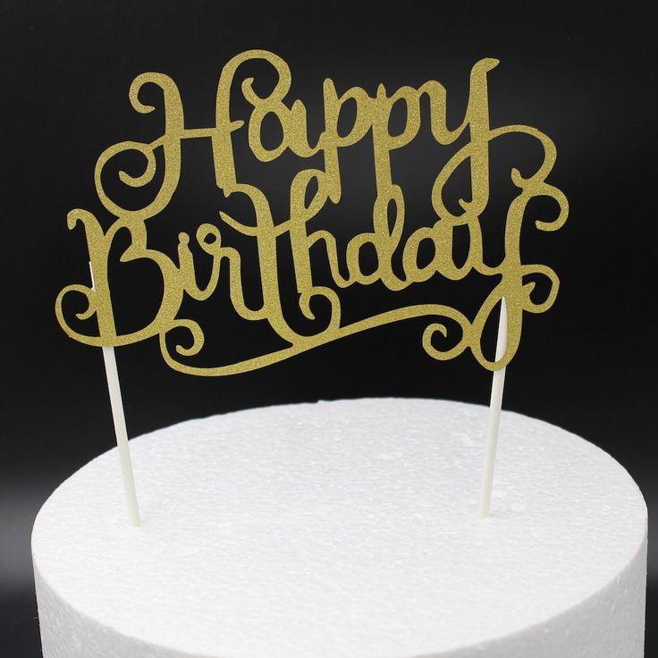 chapéus de coco do bolo Glitter festa de aniversário feliz de prata do ouro da decoração para a festa de aniversário dos miúdos favores decoração do chá de fraldas Supplies