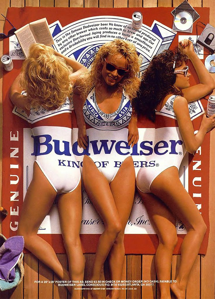 Budweiser Ad ~ This poster adorned our apartment walls in college.