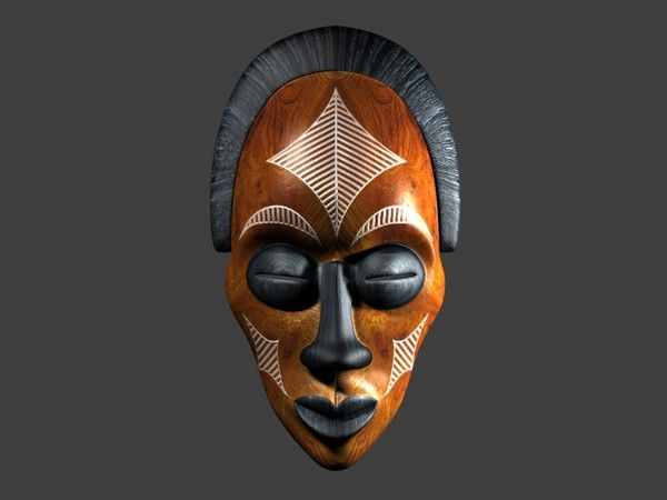 African Mask 120