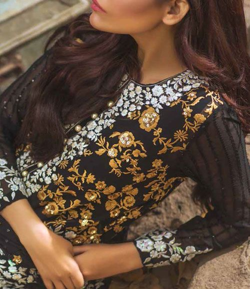 Mina Hasan Embroidered Chiffon Suits Collection 2016 Volume-2 MH_3