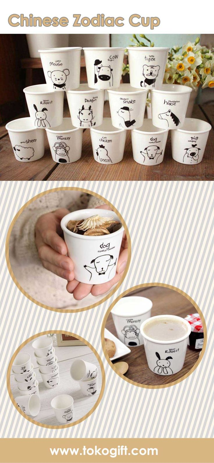 chinese zodiac mug, dapatkan mug unik lucu ini hanya di tokogift.com