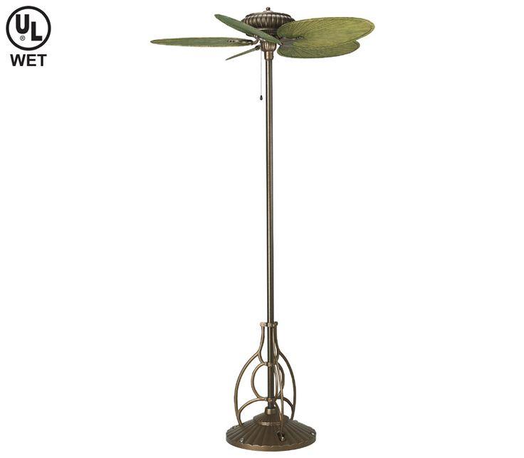 Fanimation Fp920az Torrento Aged Bronze 52 Floor Standing Fan With Bpp4gr Blades Outdoor