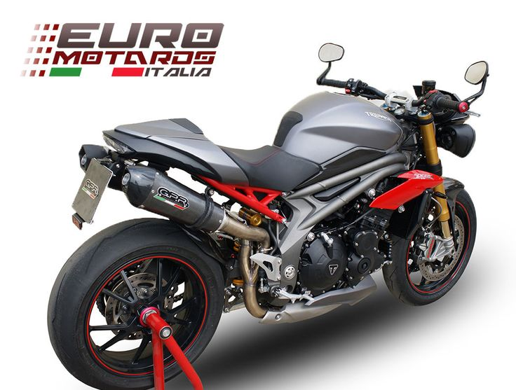 Triumph Speed Triple 1050 /R 2016 1in2 GPR Exhaust Dual Silencers GPE CF New | eBay