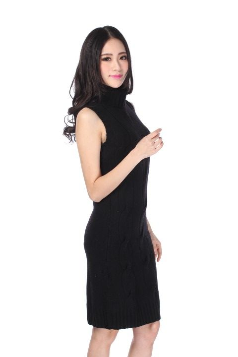 Knitted dress EIFFEL Black licorice - EmKha