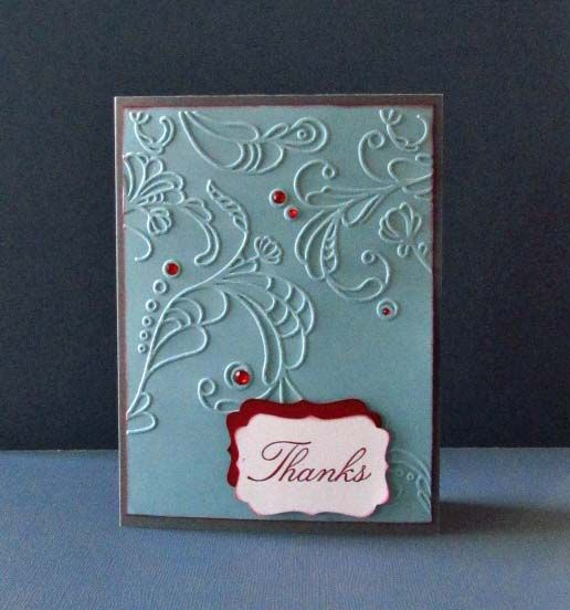 Embossed Thank YouEmbossing Cards, Cards Ideas, Cards Scrapbook, Favorite Cards, Cards Mak Ideas, Cards Inspiration, Cards Embossing, Cards Crafts, Cards Su