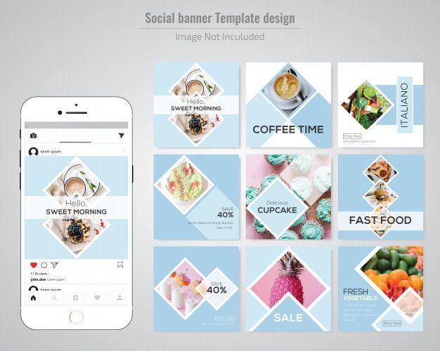 Food Social Media Post Template For Restaurant Social Media