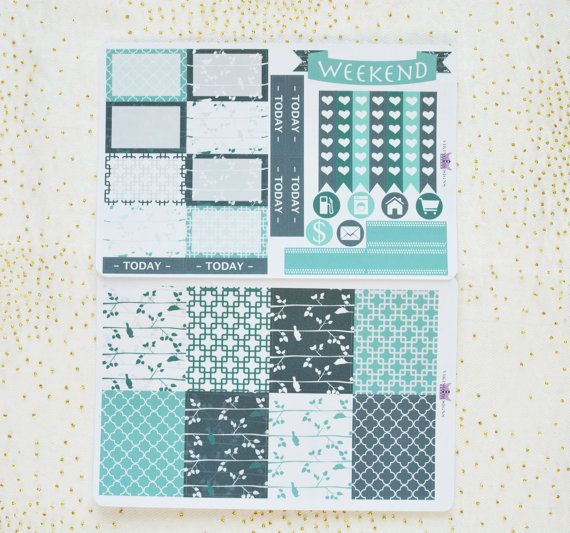 The green feather / Mini weekly kit for Erin Condren