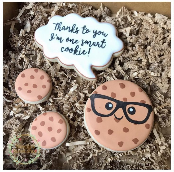 Smart Cookie Teacher Appreciation Set / Thanks to you I'm one smart cookie