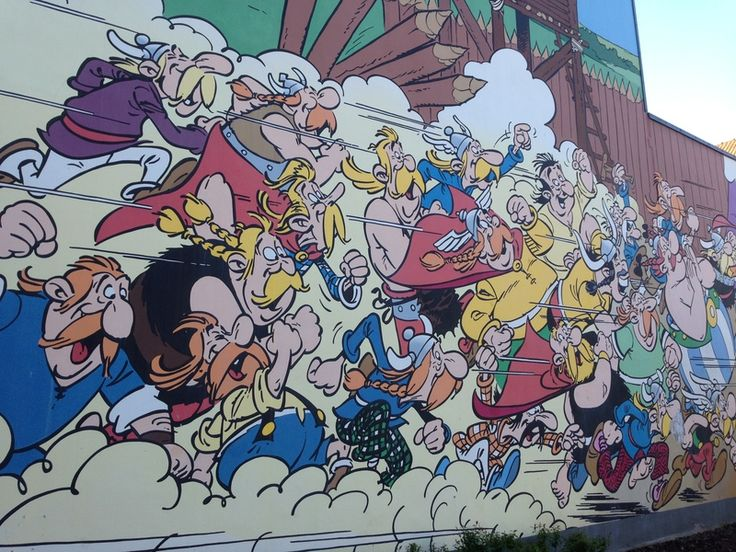 Komiksowe murale w Brukseli