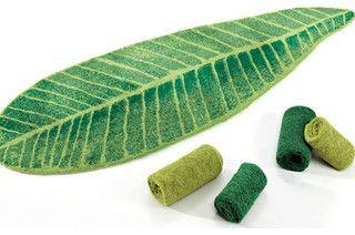 Habidecor Feuille Bath Rug - tropical - bath mats - new york - by Fine Linen and Bath