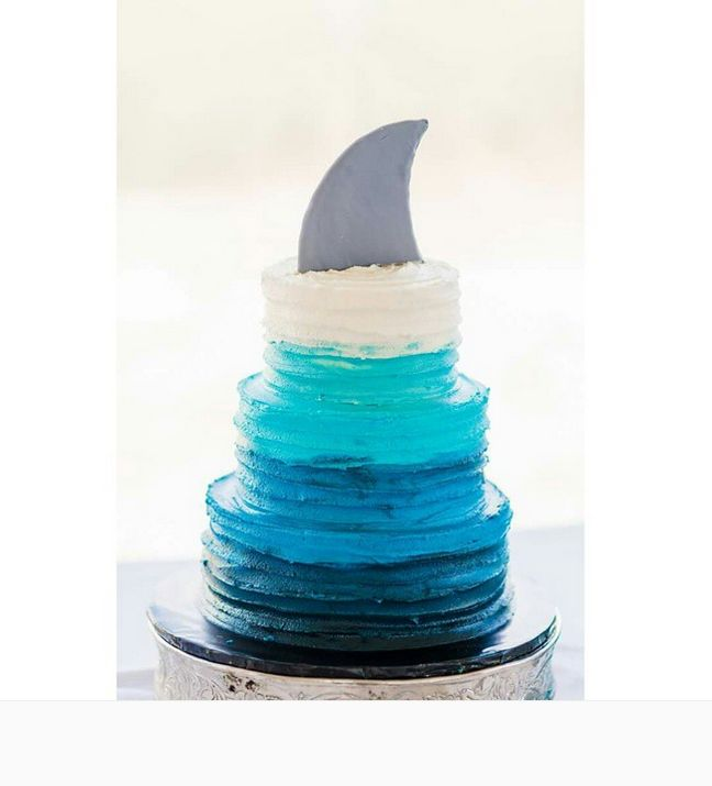 13 Shark Week-inspired recipes to sink your jaws into: Ombre cake