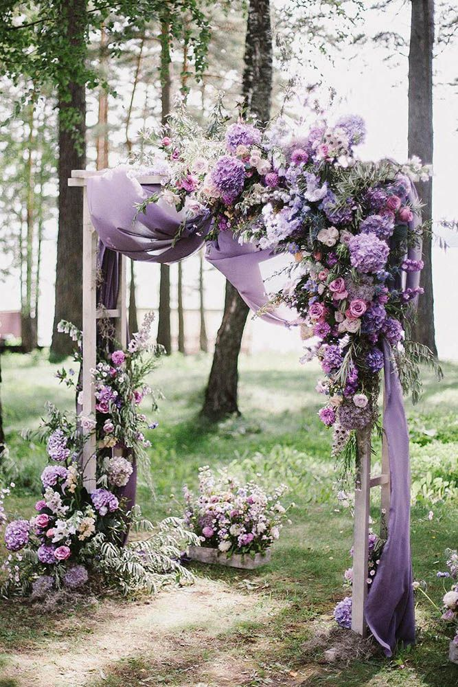 Purple Church Flowers Wedding Decorations Church Wedding