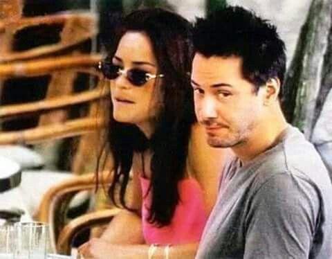 Keanu Reeves with sister Kim