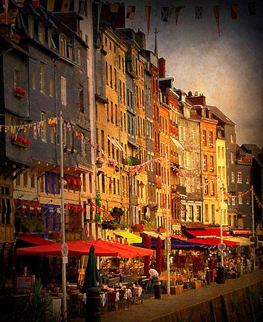 summer morning at Honfleur, Normandy